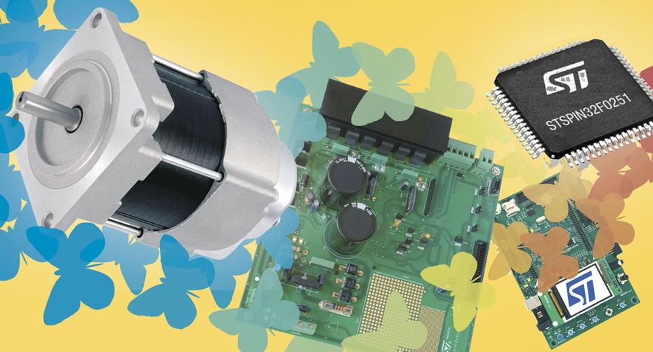 Драйверы высоковольтных бесщеточных двигателей STSPIN32F025x