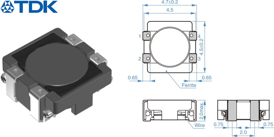 Фильтр синфазных помех серии ACM4520 от TDK