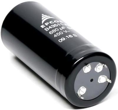 Мультипиновые SNAP-IN электролитические конденсаторы серий B43513 и B43516 от компании TDK/EPCOS