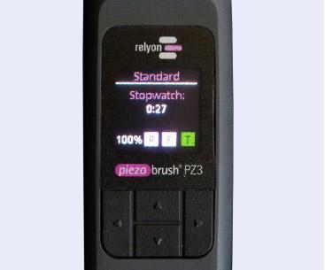 Piezobrush® PZ3. Дисплей