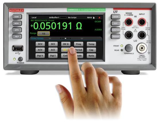 Новинка - цифровой мультиметр Tektronix DMM6500 с графическим сенсорным дисплеем и разрешением 6½ разрядов