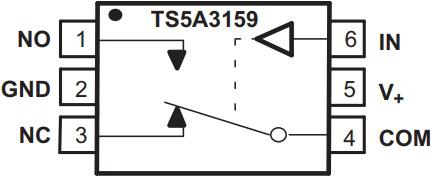 Функциональная схема TS5A3159DCKR