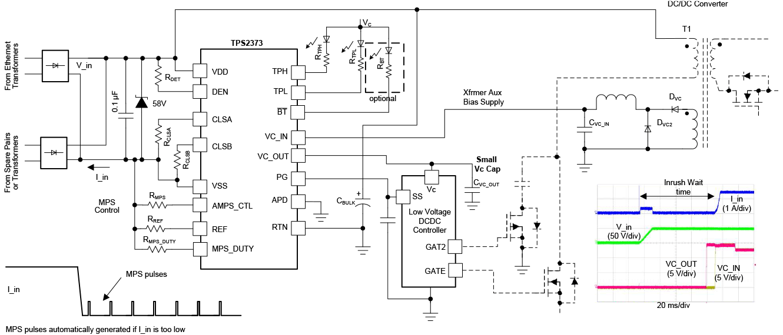 Функциональная схема TPS2373