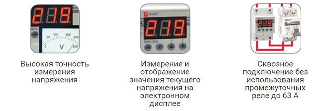 Преимущества реле напряжения и тока с дисплеем EKF PROxima