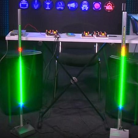 VU-meter на светодиодах WS2812b, Neopixel. Новинки собственного производства