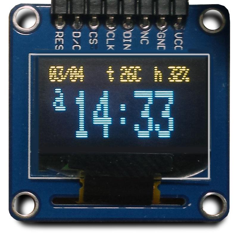 часы с использованием модуля реального времени