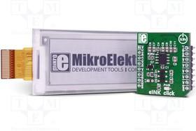 MIKROE-2659, Плата макетная; EPD-дисплей; SPI; LM75A,SSD1606; 3,3ВDC
