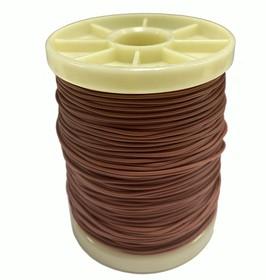 Провод силиконовый 24AWG 0,2 мм катушка 100 м (коричневый)
