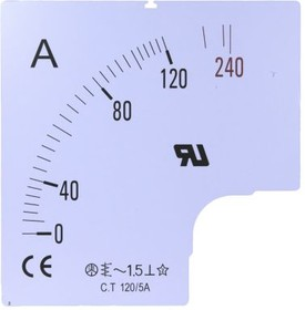 SC96-500F2-90, 500A SCALE FOR 96X96MM AMMETER