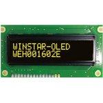 WEH001602ELPP5N00000, Индикатор 1602 желтый 84х44 мм