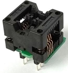 Фото 1/2 DIP-SOIC 8 pin 150 mil, Адаптер для программирования микросхем (=TSU-D08/SO08-150)