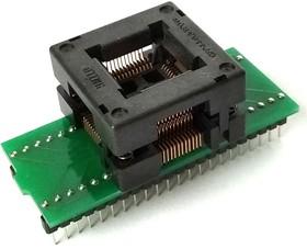 Фото 1/3 DIP44-TQFP44 12x12 mm [ZIF, Open top, Hmilu], Адаптер для программирования микросхем (=HTQ4408)