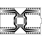 Фото 2/3 DIP64-TQFP64 12x12 mm 0.5 mm pitch, Адаптер для программирования микросхем (=HTQ6405)