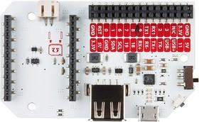 Фото 1/2 Power Dock 2, Плата расширения форм-фактора Expansion Dock для Omega2+ с разъемом 3.7В Li-Po