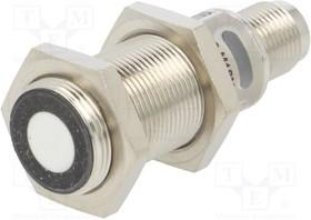 Фото 1/2 BUS004Z, Датчик ультразвуковой, прямой, Дальность 65-350мм, push/pull