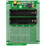 MIKROE-712, Battery Boost Shield, Плата раширения для mikromedia bord с макетной областью и батарейным отсеком