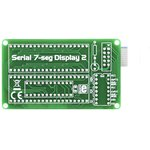 Фото 4/4 MIKROE-202, Serial 7-seg Display 2 Board, Дочерняя плата с двумя 4-символьными 7-сегментными LED индикаторами
