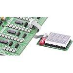 Фото 2/4 MIKROE-202, Serial 7-seg Display 2 Board, Дочерняя плата с двумя 4-символьными 7-сегментными LED индикаторами