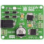 MIKROE-192, 5V-3.3VReg Board, Плата стабилизатора напряжения Uвх:8-16AC/DC ...