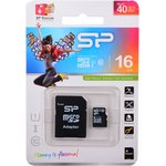 SP016GBSTH010V10-SP, Карта памяти Micro SD 16ГБ ...