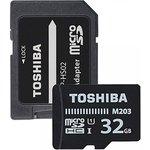 Карта памяти microSDXC UHS-I TOSHIBA M203 32 ГБ, 100 МБ/с ...