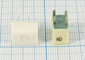 Пьезокерамический полосовой фильтр 455кГц с полосой пропускания 10кГц, ф 455 \пол\ 10/6\11,5x7x8\4P (2P+2P)\ФП1П1-60\\