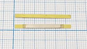 Пьезоэлектрическая диафрагма для ультразвукового диапазона прямоугольной формы 27x2x0.26мм; пбу 27x2x0,26\\Y\ 69\2C\JTY8-27L2B-690E\