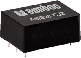 AME20-12DCJZ, AC/DC преобразователь, 20 Вт, +12, -12 В /±830 мА