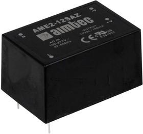 AME2-15SAZ, AC/DC преобразователь, 2Вт, 15В/0,133A