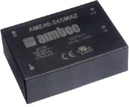 AME40-24SCJZ, AC/DC преобразователь, 40 Вт, 24 В /1660 мА