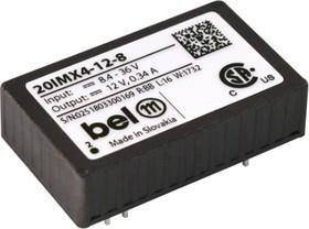 20IMX4-0505-8G, DC/DC преобразователь, 4Вт, Uвх=8.4…36В, Выход ±5В/ ±350мА