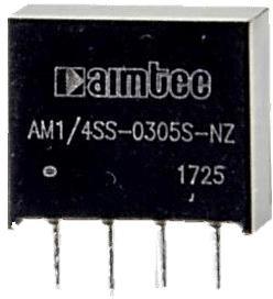 AM1/4SS-0303S-NZ, DC/DC преобразователь, 0,25 Вт, вход 2,97-3,63 В, выход 3,3 В/76 мА