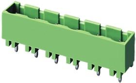 """7EHDVC-02P, Клеммник 2 конт. """"вилка"""" шаг 7.50 мм закрытый, вертик. на плату, до 300В/15А, зеленый изол."""