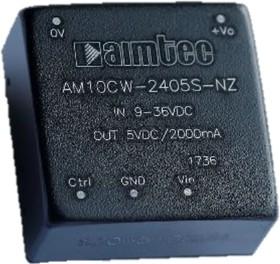 AM10CW-4805S-NZ, DC/DC преобразователь, 10 Вт, вход 18..75 В, выход 5 В/2000 мА