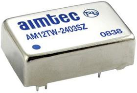 AM12TW-2412SZ, DC/DC преобразователь, 12Вт, вход 9…36В, выход 12В/1А