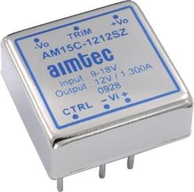 AM15C-2415SZ, DC/DC преобразователь, 15Вт, Вход 18…36В, выход 15В/1А