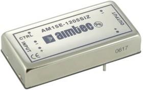 AM15E-2415SIZ, DC/DC преобразователь, 15Вт, Вход 18…36В, выход 15В/1000мА