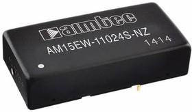 AM15EW-4812DZ, DC/DC преобразователь, 15Вт, Вход 18…72В, выход ±12В/ ±0.625А