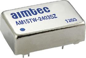 AM15TW-4812DZ, DC/DC преобразователь, 15Вт, Вход 18…75В, выход ±12В/ ±0.625А