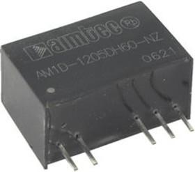 AM1D-1212DH30-NZ, DC/DC преобразователь, 1Вт, вход 10,8…13,2В, выход ±12В/±42мА