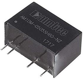 AM1DM-0505SH60-NZ, DC/DC преобразователь 1 Вт, вход 4,5…5,5 В, выход 5 В/200 мА