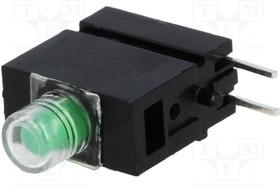 1808.8035, LED; в корпусе; зеленый; 3мм; Кол-во диод:1; 20мА; 40°; 10 20мкд