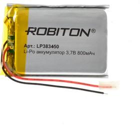 LP383450, Аккумулятор литий-полимерный (Li-Pol) 800мАч 3.7В, с защитой