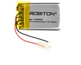 LP402030, Аккумулятор литий-полимерный (Li-Pol) 180мАч 3.7В, с защитой | купить в розницу и оптом