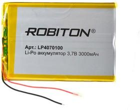 ROBITON LP4070100 3.7В 3000мАч PK1, Аккумулятор | купить в розницу и оптом