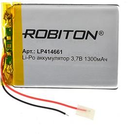 Фото 1/3 LP414661, Аккумулятор литий-полимерный (Li-Pol) 1300мАч 3.7В, с защитой