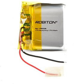 LP852526, Аккумулятор литий-полимерный (Li-Pol) 500мАч 3.7В, с защитой