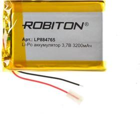 LP884765, Аккумулятор литий-полимерный (Li-Pol) 3200мАч 3.7В, с защитой | купить в розницу и оптом