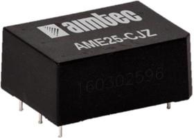 AME25-15SCJZ, AC/DC преобразователь, 25 Вт, 15 В /1600 мА