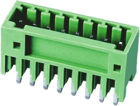 """ECH250V-02P, Клеммник 2 конт. """"вилка"""" шаг 2.50 мм закрытый, вертик. на плату, до 130В/4А, зеленый изол."""